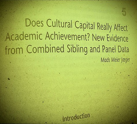 Is Cultural Capital Still Useful in Education Research?