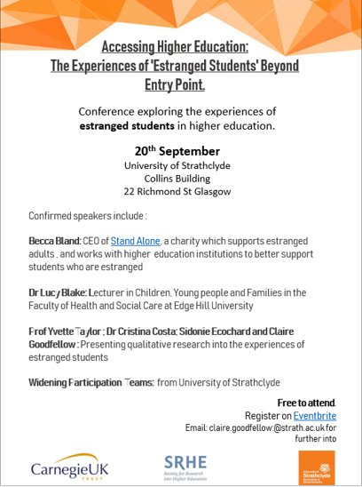 'Accessing Higher Education: The experiences of 'estranged students' beyond entry point