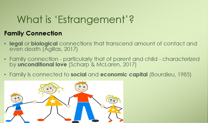 Accessing the experiences of 'estranged' students